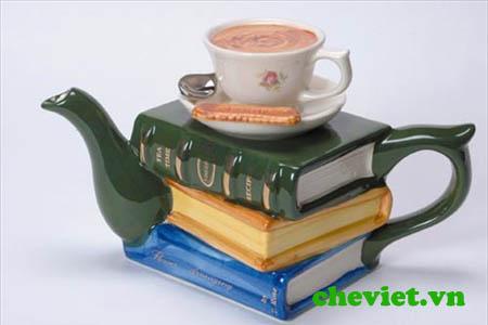 ấm trà  sách