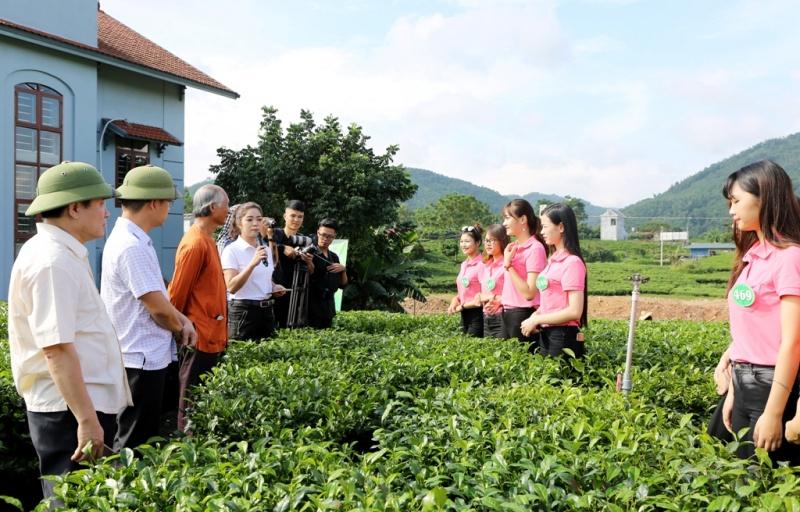 Người đẹp xứ Trà Thái Nguyên nghe nghệ nhân chè Thái Nguyên trò chuyện về lịch sử cây chè Thái Nguyên