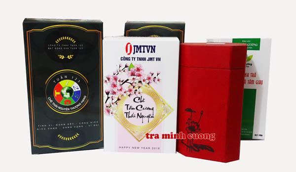 Một số hộp trà Thái Nguyên nhận diện thương hiệu