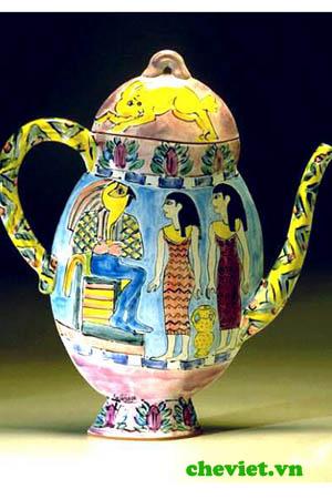 Ấm trà chứa được văn hóa bộ tộc