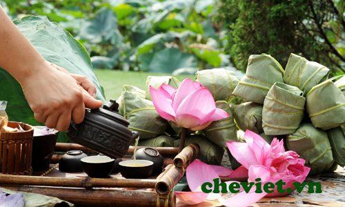 Tặng quà Trung thu Chè Thái Nguyên trà sen Tây Hồ